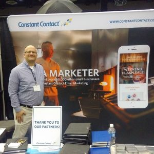 Mark Mondo participates at Small Business Expo in Chicago for Constant Contact