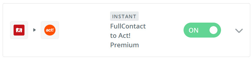 Zapier Sample FullContact to Act