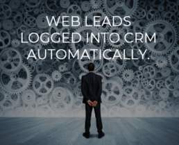 Web Leads Logged into CRM Automatically.